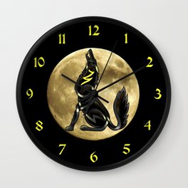 Celtic Knot Howling Wolf Wall Clock