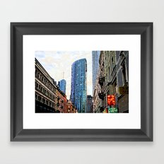 Frankfurt Germany - Red Light Framed Art Print