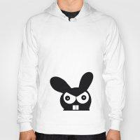 bunny Hoodies featuring Bunny by Sylwia Borkowska