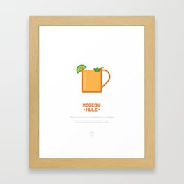 Moscow Mule Cocktail Recipe Art Print (White) Framed Art Print