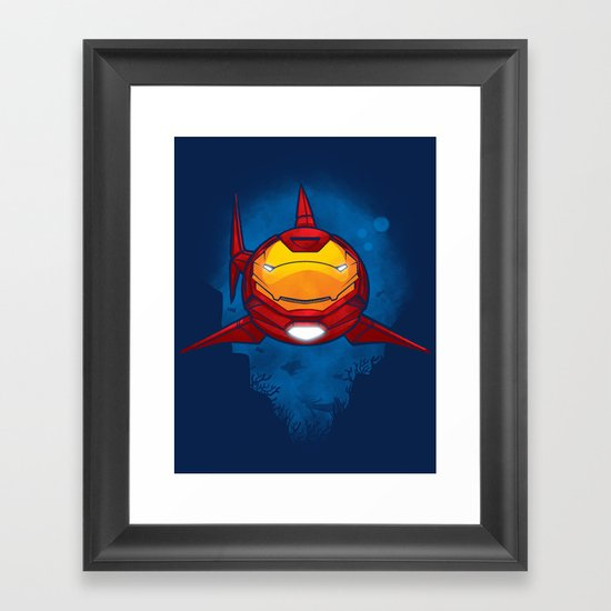 Tony Shark Framed Art Print