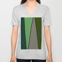 Green Abstract Pattern Turtle Unisex V-Neck