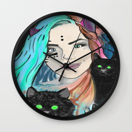 Aphrodite Hathor Wall Clock