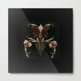 Antique Flowers No.1 by Kathy Morton Stanion Metal Print