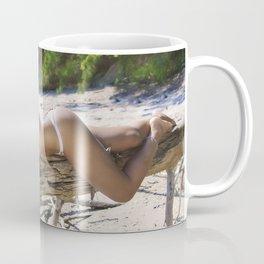 Laughing and Lying on a Tree Branch Coffee Mug