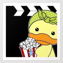 Movie Duck Art Print