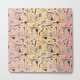 Painter's Supplies - Rose Gold Metal Print
