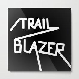 Trailblazer B&W Metal Print