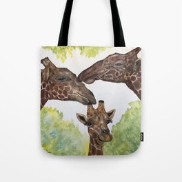 Giraffe Love by Maureen Donovan Tote Bag