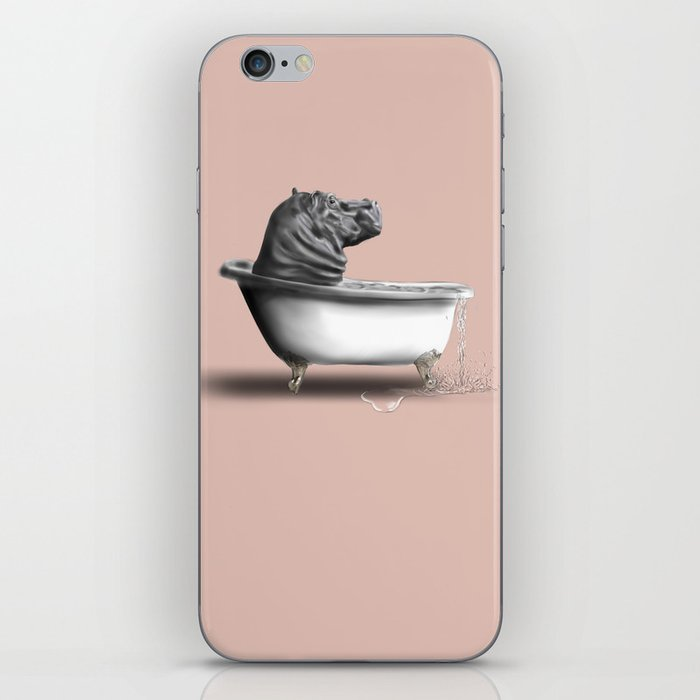 Hippo in Bath iPhone Skin