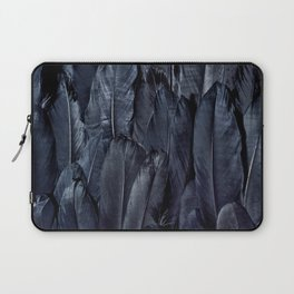 Mystic Black Feather Close Up Laptop Sleeve