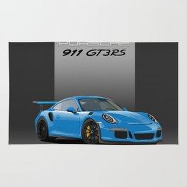 2016 Porsche 911 GT3 RS in Mexico Blue Rug