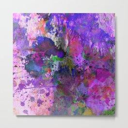 Lilac Chaos - Abstract Metal Print