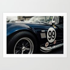 Shelby Cobra Racing Style Art Print