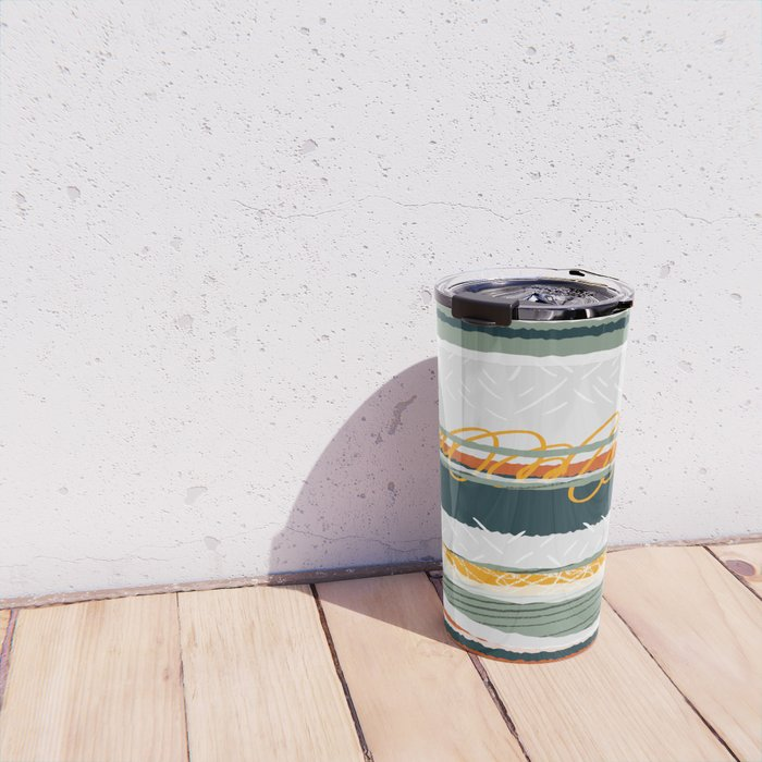 Green and Gold Travel Mug