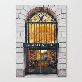 Wall Street NYC - entrance Canvas Print