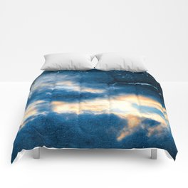 Celestial Grunge Clouds Comforters