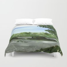 New Hope Lambertville Bridge Duvet Cover