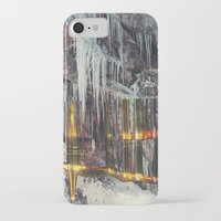 cities iPhone & iPod Cases featuring Stalactite Cities by tranquileyez