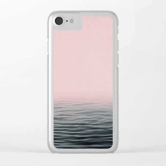 Misty sea Clear iPhone Case