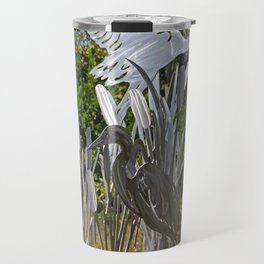 A Heron in the Glen- vertical Travel Mug