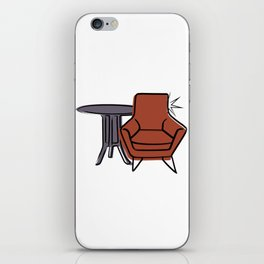 Table & Chairs 06 iPhone Skin