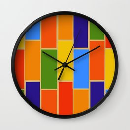 Colored Tiles Version 1 Wall Clock