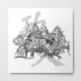 KungFu Zodiac Metal Print