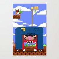 mario Canvas Prints featuring Mario by Ryan Miller
