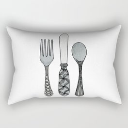 Fork Knife & Spoon Rectangular Pillow