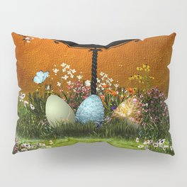Easter eggs in the grass Pillow Sham