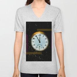 Time passes like soap bubbles Unisex V-Neck