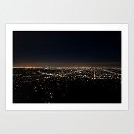 NIGHT SKYLINE Art Print