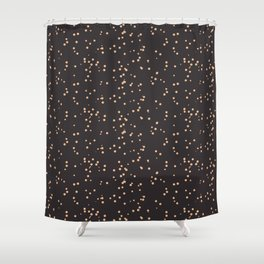 Beige Brown Shambolic Bubbles Shower Curtain