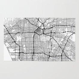 Minimal City Maps - Map Of Los Angeles, California, United States Rug