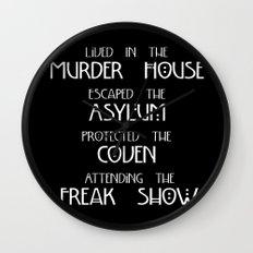 American Horror Story Four Seasons Wall Clock