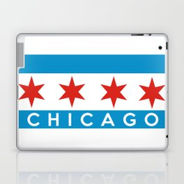 chicago city flag name text Laptop & iPad Skin