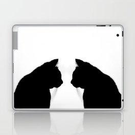 Black cat silhouette Laptop & iPad Skin