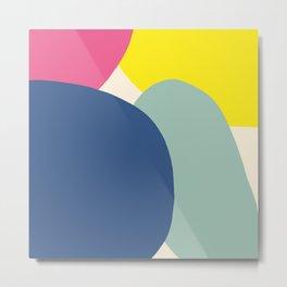 Zen Zahhak - Colorful Decorative Abstract Art Pattern Metal Print