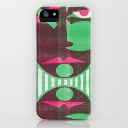 Two tone mask iPhone Case