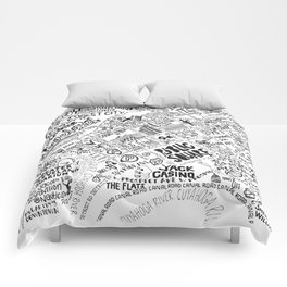 Cleveland Map Comforters