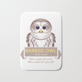 Cry of the Barred Owl Bath Mat