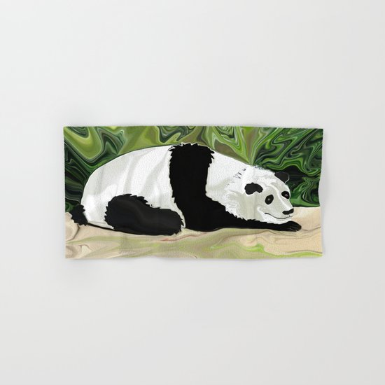 Driving at Panda Pace Hand & Bath Towel