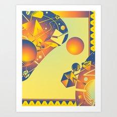 Cyber Space Art Print