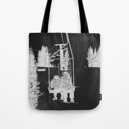 Inverted Ski Lift Tote Bag