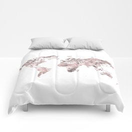 Watercolor Floral Map Nikki Comforters