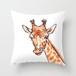 Cami the Giraffe  Throw Pillow