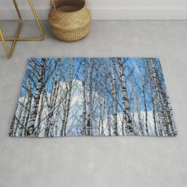 Birch Trees. Early Spring Rug