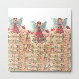 Three Litte Fairies Metal Print