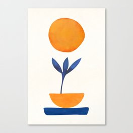 The Little One / Abstract Plant Painting Canvas Print
